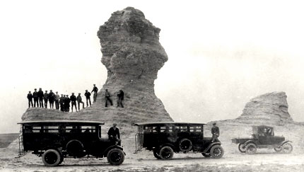School Group at Monument Rocks