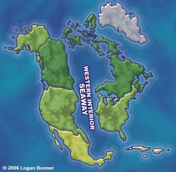 Map Of Western Interior Seaway